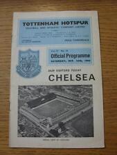 24/10/1964 Tottenham Hotspur v Chelsea  (Creased, Folded, Small Rips Inside).