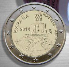 ESPAÑA 2 EUROS 2014 - PARQUE GUELL DE GAUDI
