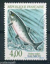 FRANCE - 1990 - timbre 2665, ANIMAUX, POISSONS, SAUMON, oblitéré