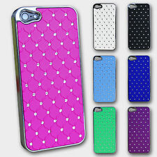 Handy Cover Strass iPhone 5S 5 Hard Case Etui Shutz Hülle Tasche Luxus V Neu