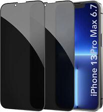 2x iPhone 13 Pro Max Sichtschutz Schutzfolie Display Schutzglas 9H Panzerfolie