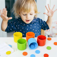 AU_ IC- FT- HN- AU_ Kids Wooden Color Classification Matching Cups Round Early E