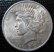 1922  PEACE DOLLAR / 90% SILVER COIN / COMBINED SHIPPING AVAILABLE