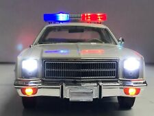 """1/18 Plymouth FURY """"DUKES OF HAZZARD"""" COUNTY SHERIFF Working POLICE Lights Ut"""