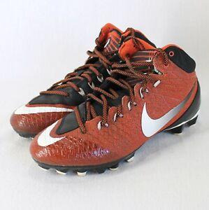 Nike Football Cleats Youth Sz 6 Orange Black Calvin Johnson Shoes