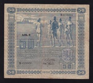 FINLAND ------ 50  MARK  1939 ------ F ------