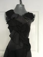Cue Size 12 Womens Work Corporate Dress Grey And Black Made In Australia Lined