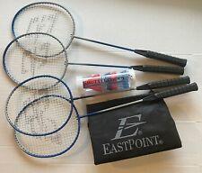 New EastPoint Sports 4-Player Badminton Racket Set With 6pk Shuttlecocks