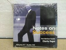 Advocare Notes On Success ( Charlie Ragus) 4 Cd's Vol 1-4 - Brand New