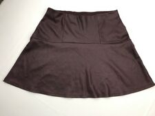 Ladies Seventeen's Burgundy Faux LEATHER FLARE SKIRT Vegan Pleather Sz L