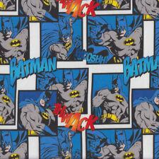 Batman Thwack Wooshh Kids Boys Licensed Quilting Fabric FQ or Metre *New*