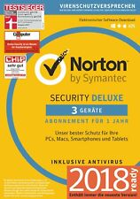NORTON (Internet) SECURITY DELUXE 3-Geräte/1-Jahr 2017/2018 PC/Mac/Android / KEY