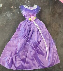 Quality Purple Lilac with Sleeves Made for Barbie doll ball gown dress UK seller