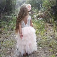 Bohemian Vintage Style Ice White Full Lace Back Tulle Flower Girl Occasion Dress
