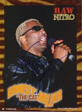 Wwe Wwf Ernest Gato Miller autografiado foto 8X10 Firmada a Mano Foto lucha libre