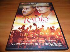 Radio (DVD, Widescreen 2004) Cuba Gooding Jr., Ed Harris Used Football