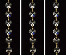 """71"""" Crystal Chandelier Glass12MM Bead Wedding Garland Brass Bowtie Chain Supply"""