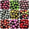 50 Pcs Acrylic Two Tone 10mm Jewellery Beads Kids Craft Many Colours Beading ML