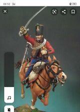 Andrea Miniatures/mounted hussar 1813 /90 mm no 54mm  75mm pegaso métal modèles