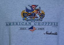 American Choppers t-shirt gray XL Nashville Tennessee motorcycles