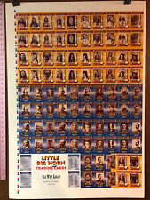 "LITTLE BIG HORN TRADING CARDS (1994) FULL UNCUT PRESS SHEET 28"" X40"" (90 CARDS+)"