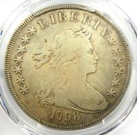 1798 Draped Bust Silver Dollar $1 Coin BB-96 - Certified PCGS Fine Details