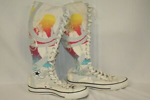 Converse Chuck Taylor Unisex Zip Lace Up Knee High Boots US W 8/M 6 111480-F