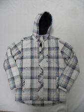 Quiksilver Level Up Plaid Zip-Up & Buttom Front Hoodie Bomber Jacket Sz Medium