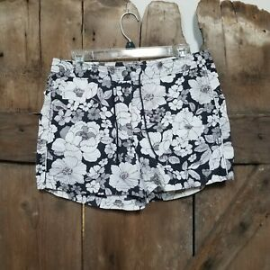 Eddie Bauer Nylon Shorts Womens Size 6 Floral print NWT Shrink Fade Resistant