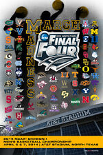 NCAA Men's Basketball Tournament 2014 Official 68-Team Commemorative Poster
