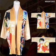 Anime One Piece Luffy Cloak Kimono Bathrobe Coat Haori Robe COS Cosplay Costume