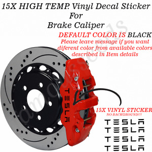 15X TESLA Premium Brake Caliper Vinyl Decals Stickers High Quality Car Vinyl