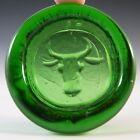 Boda Vintage Swedish Green Glass Bull Bowl by Erik Hoglund