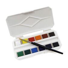 MINI Tasca Acquerello Vernice Half Pan Box Set con spazzola da viaggio