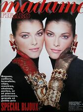 MADAME FIGARO SPECIAL BIJOUX BAGUES COLLIERS CLIPS MONTRES PERLES OR 1992