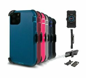 For iPhone 12, Mini, 12 Pro Max Defender Case Cover with Clip fits Otterbox
