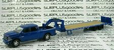 Greenlight 1:64 Blue 2014 DODGE RAM 1500 Dual Cab Pickup w/Gooseneck Trailer