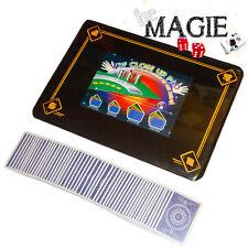 Tapis de magie ROUGE - 40 x 27,5 cm - Motif 4 As - Qualité VDF