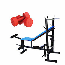 Branded Fitfly Weight lifting 8 IN 1 Bench PVC Dumbbell (5kg X 2kg) 10Kg