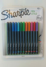 SHARPIE Pens - Fine Tip - 12 Piece Set - Assorted Colours - No Bleeding- NWT