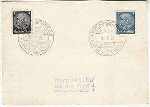 MARITIME 1938 DEUTSCHE SCHIFFSPOST *HAMBURG-MEXICO:M/S ORINOCO* cd on cover