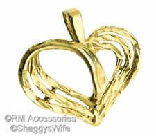 Heart Charm Open Design Pendant EP Gold Plated Jewelry with a Lifetime Guarantee