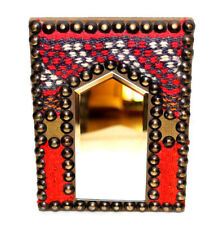 Mirror Beautiful Authentic Bright Unique Red Handmade Egyptian Rug Desk Wall