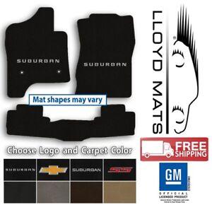 Chevrolet Suburban- 3pc Classic Loop Carpet Floor Mat Set - Choose Color & Logo