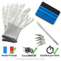 Kit de Pose Covering PRO: Raclette Téflon + Paire de Gants + Cutter + 5 lames