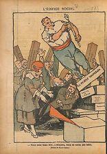 Caricature Politique Marianne Franc-Maçons Franc-Maçonnerie 1919 ILLUSTRATION