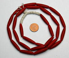 Strang lange böhmische korall rote Oliven Perlen