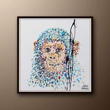 "Painting 35"" Smart Monkey Painting, animal painting , Original Handmade, impasto"