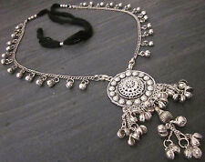 Statement Kuchi Necklace Chain Pendant Boho Gypsy Hippie Tribal Fashion Jewelry