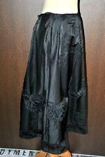 Jupe ancienne MODE RETRO Jupon faux-cul en satin noir - Costume 1900 T42